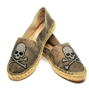 Cotto Studded Skull Espadrille Shoe EUR 39 New